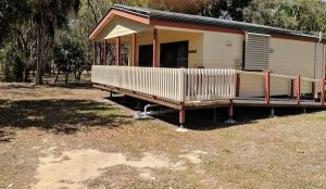 Broadwater Haven accessible accommodation exterior with wheelchair ramp